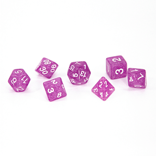 Dice - (66) 7-Piece Polyhedral Set: Periwinkle Glimmer