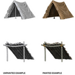 Dungeons & Dragons - Wizkids Deep Cuts Unpainted Miniatures: Tent & Lean-To