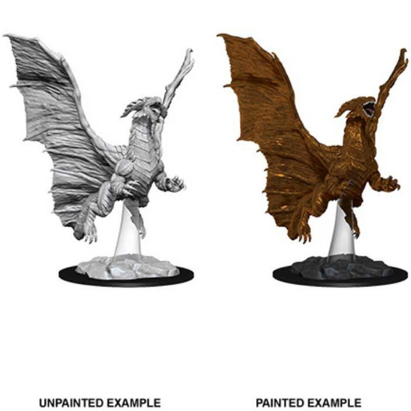 dungeons and dragons nolzurs miniatures young black dragon