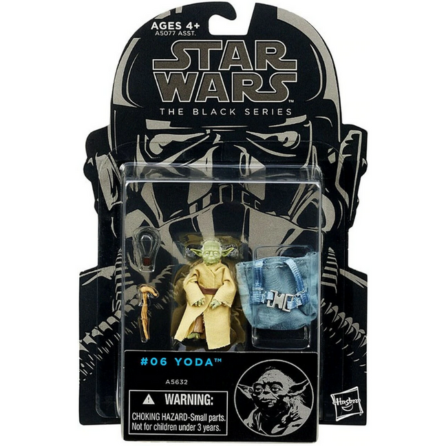 "Figure - Star Wars The Empire Strikes Back: 3.75"" The Black Series Yoda #06"