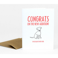 congratulations on your new dog cards