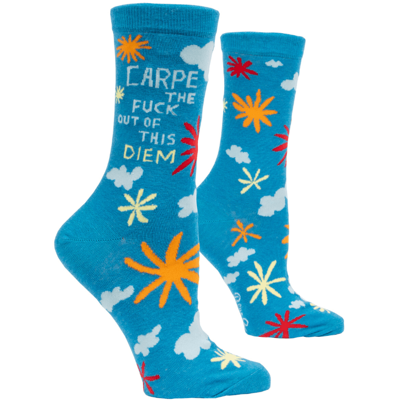 Socks (Women's Crew) - Carpe the Fuck Out of this Diem by Blue Q