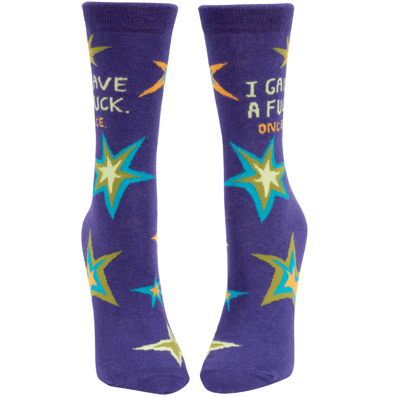 Women's Crew Socks - I Gave a Fuck. Once.