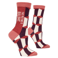 Women's Crew Socks - This Meeting is Bullshit