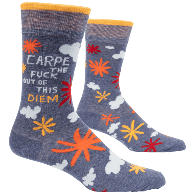 Socks - Men's Crew: Carpe the Fuck Out of this Diem