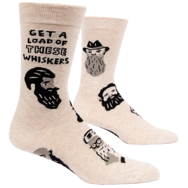 Socks - Men's Crew: Get a Load of These Whiskers