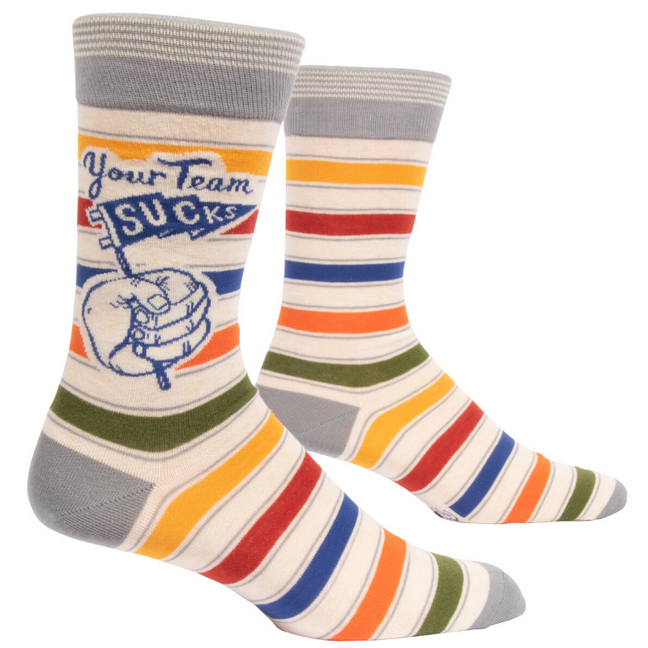 Socks - Men's Crew: Your Team Sucks