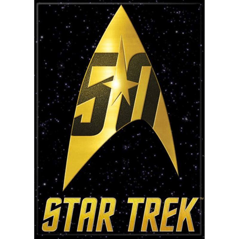 magnet star trek 50th anniversary logo images