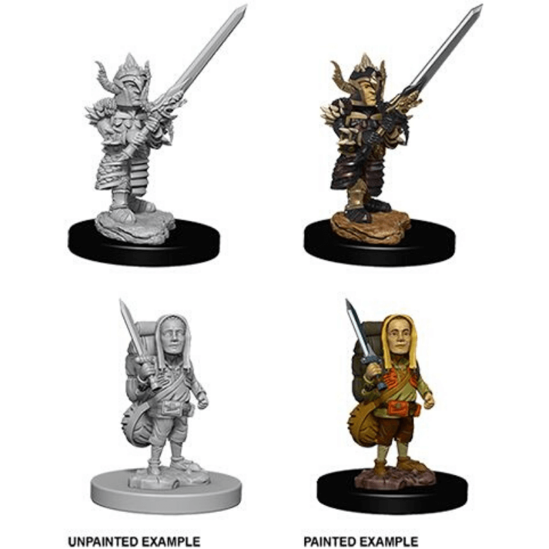 Dungeons & Dragons - Nolzur's Marvelous Unpainted Miniatures: Male Halfling Fighter