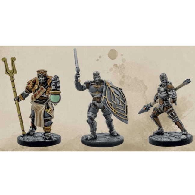 Dungeons & Dragons - Eberron Rising from the Last War Unpainted Miniatures: Warforged 3 Piece Set