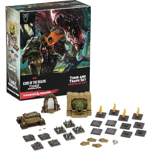 Dungeons and dragons tomb traps set miniatures