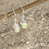 Natural Ethiopian Opal Cab Earrings, Sterling Silver, October Birthstone Size 6X8mm