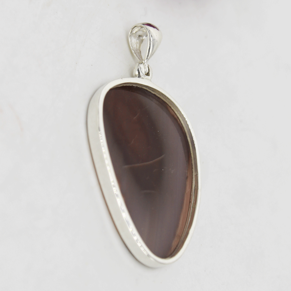 Natural Imperial Jasper Silver Pendant, Size 22x31mm
