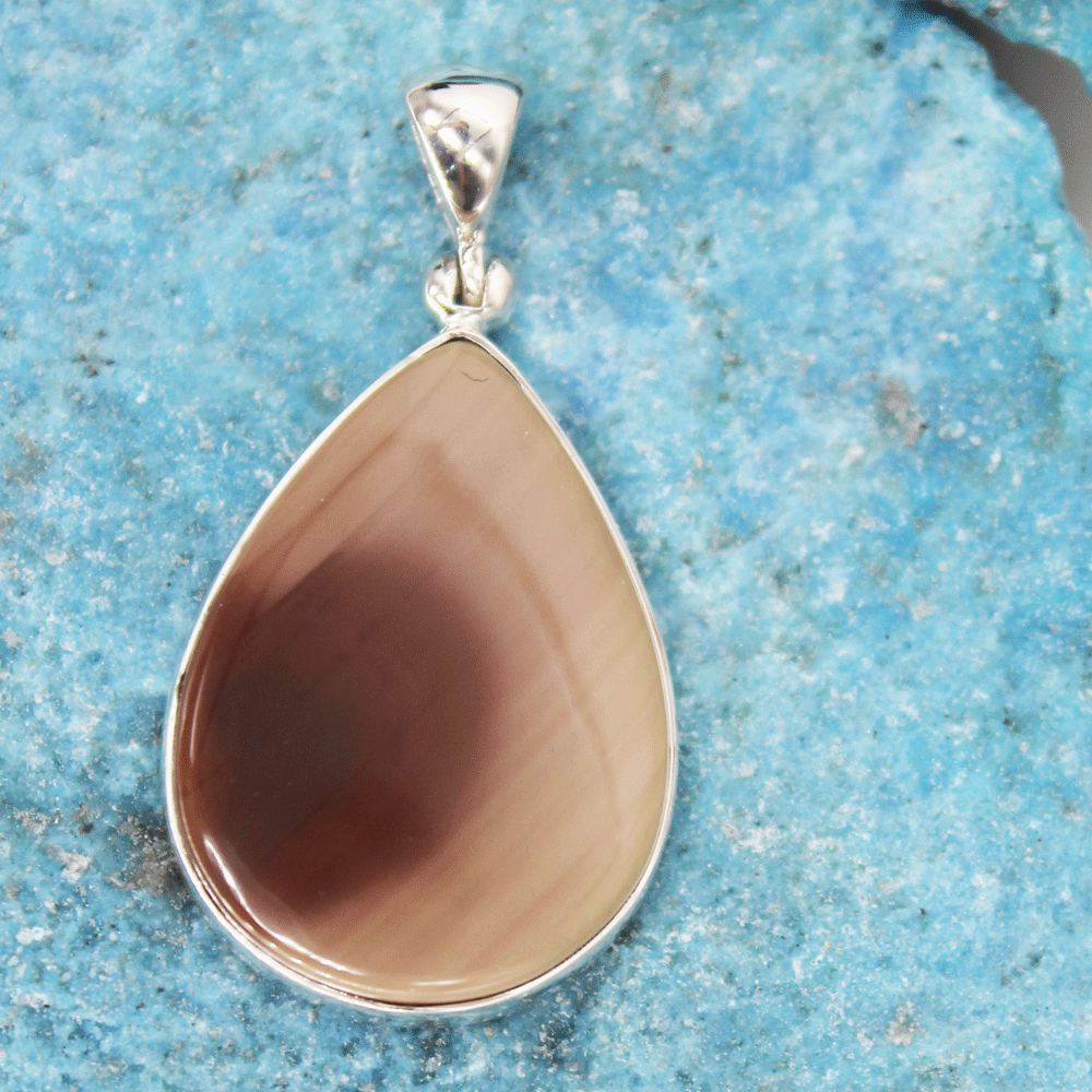 Natural Imperial Jasper Silver Pendant, Size 18x25mm