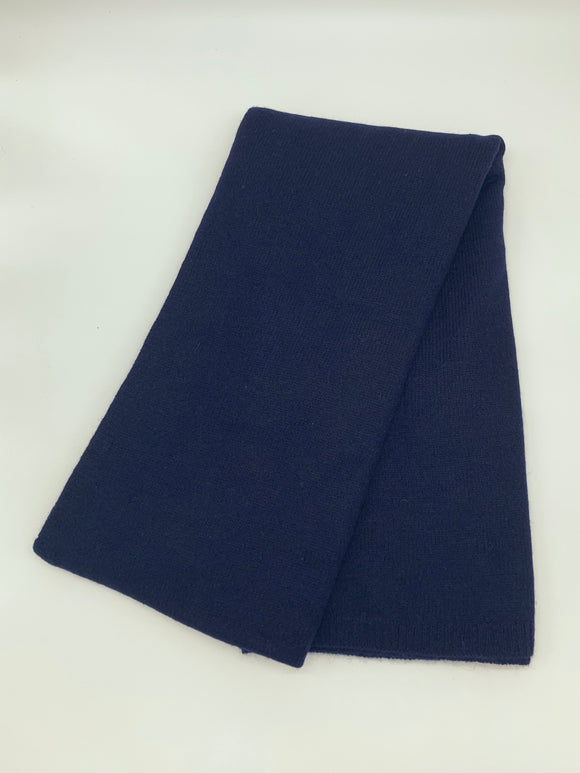 Large Navy Blue Knitted Cashmere Wrap