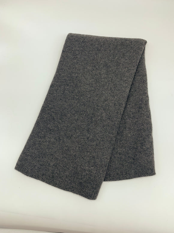 Large Charcoal Knitted Cashmere Wrap