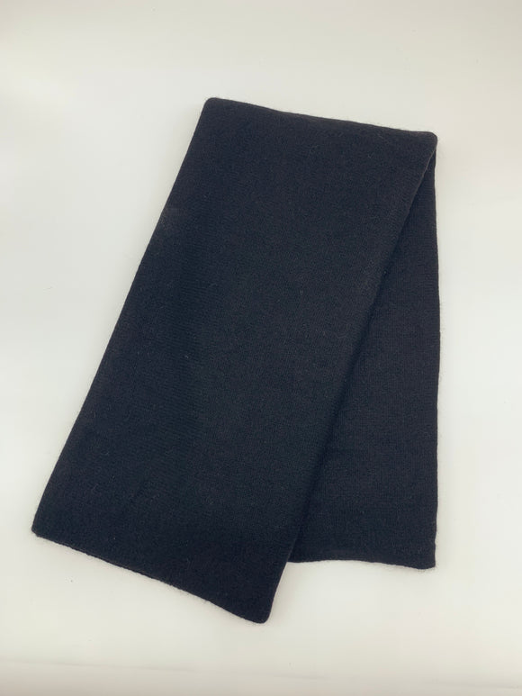 Large Black Knitted Cashmere Wrap