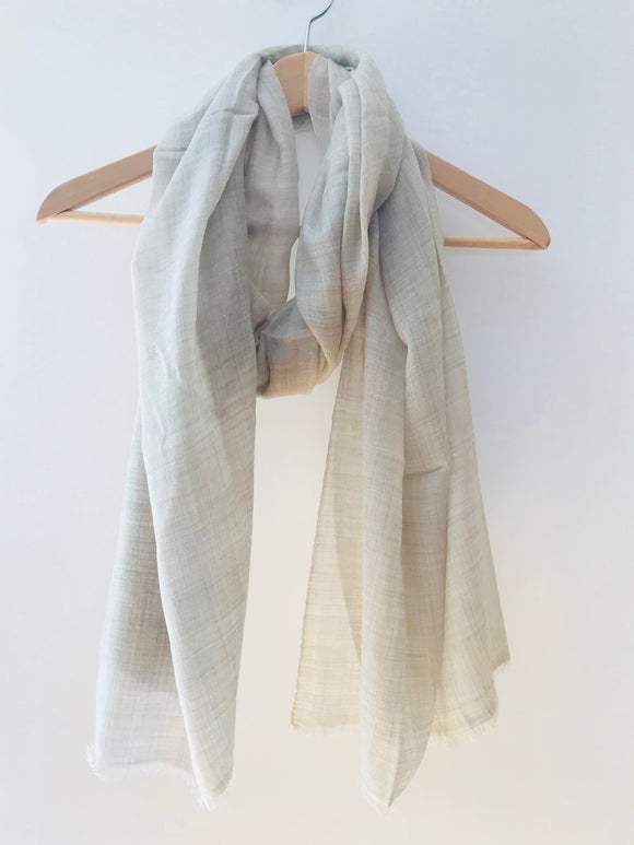 Super Fine Nepalese Cashmere Scarf in Light Beige