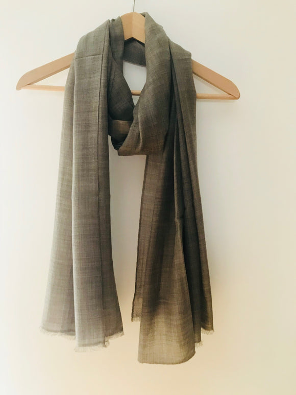 Super Fine Nepalese Cashmere Scarf in Chocolate