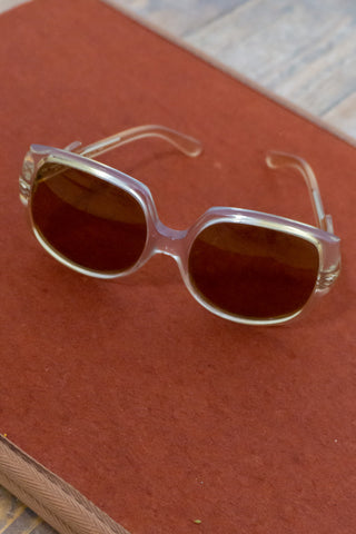 Emma - Vintage Polaroid Sunglasses in Yellow - Staying Alive Vintage