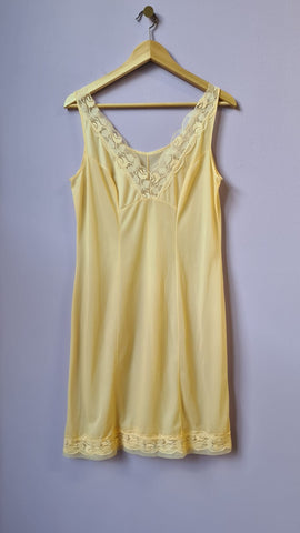 Lili - Vintage 70s Slip Midi Dress in Yellow