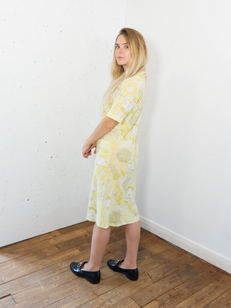 Lemon Mascarpone - Vintage Summer Dress in Yellow and White - Staying Alive Vintage
