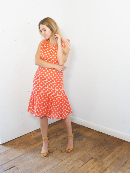 Billy - Vintage 60's Polka Dot dress in Red and White - Staying Alive Vintage