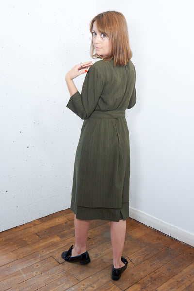 Helen Keller - Vintage 60s Dress in Green with Matching Belt - Staying Alive Vintage