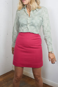 Heather - Vintage 70's Mini Skirt in Hot Pink - Staying Alive Vintage