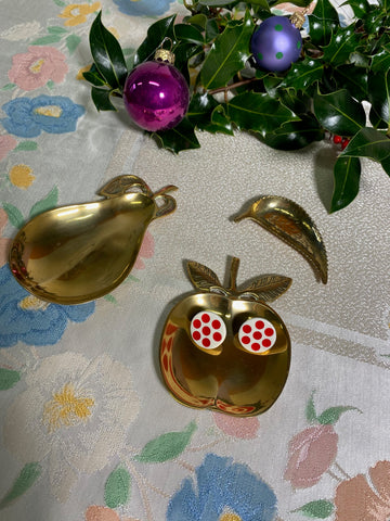 Jade - Vintage 70s Fruit Shape Jewellery Holders / Ash Trays