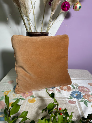 Pippa - Vintage Orange Velvet Cushion