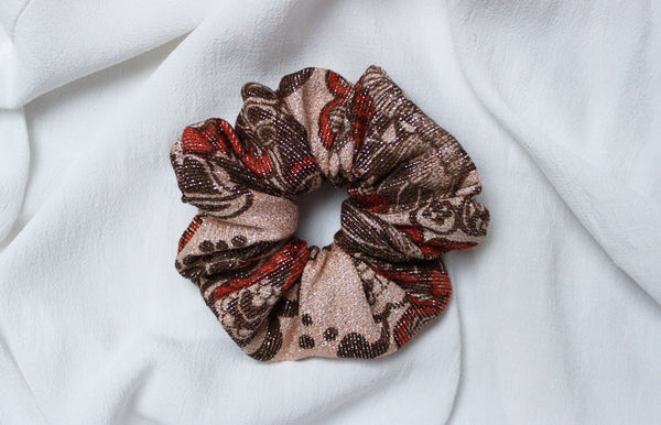 Magic Dust - Vintage Sparkly Scrunchy in Red - Staying Alive Vintage