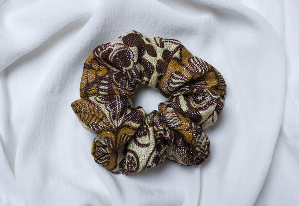 Golden Hour - Vintage Sparkly Scrunchy in Yellow - Staying Alive Vintage