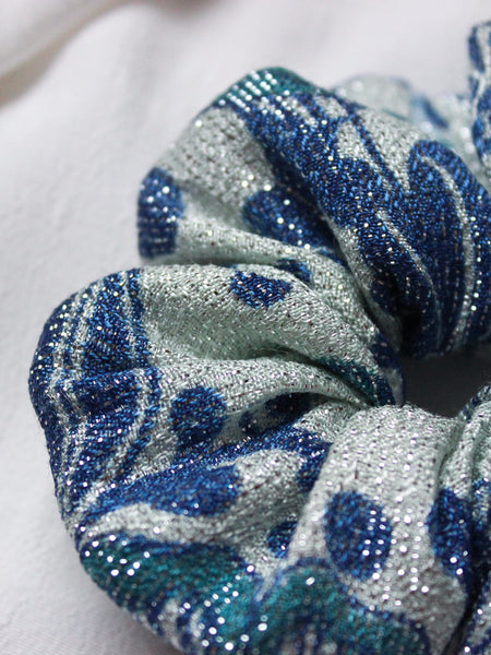 Stargaze - Vintage Sparkly Scrunchy in Blue - Staying Alive Vintage