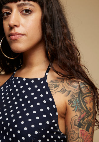Victoria - 80's polka dot maxi dress - Staying Alive Vintage