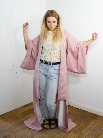 Candy - Vintage 70s Kimono in Pink - Staying Alive Vintage