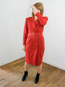 Rosa Parks - Vintage Dress Suit in Red with Matching Belt - Staying Alive Vintage