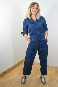 Eppie - 90's Boiler Suit in Navy Blue - Staying Alive Vintage