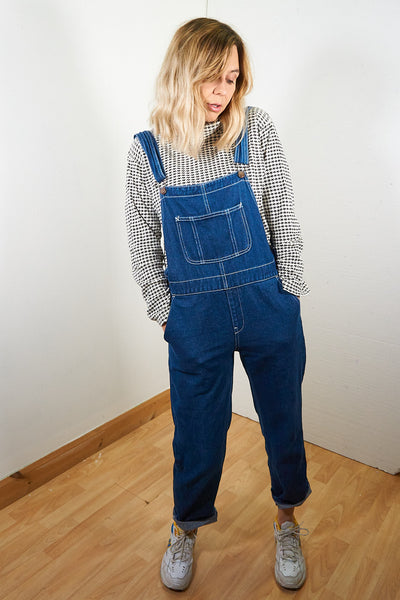Willow - Vintage 90's Denim Dungarees un Navy Blue - Staying Alive Vintage