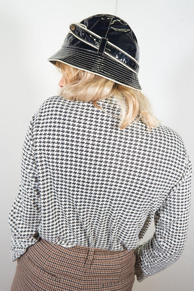 Jean - Vintage 60s PVC Bucket Hat in Black - Staying Alive Vintage