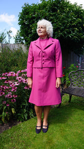 Arabella - Vintage 60s Two Pieces Dress and Matching Jacket in Pink