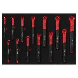BESITA 6692D 13 PCS INSULATED RING END WRENCH SET