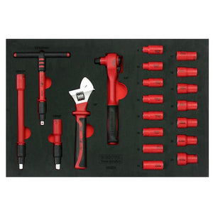 BESITA 6692 94 PCS INSULATED TOOL TROLLEY SET