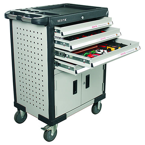 BESITA 6687 198 PCS SUPER TOOL TROLLEY SET
