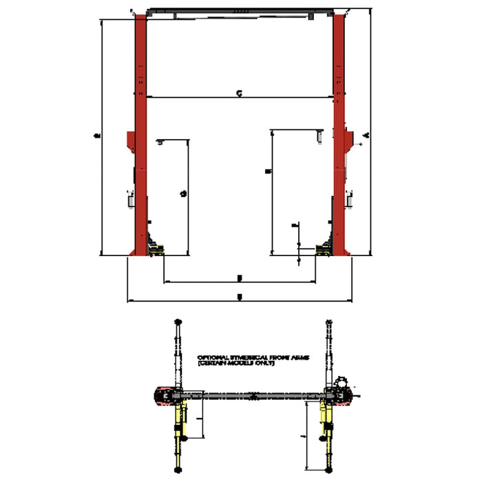 LAUNCHER LCH-TOT010 HEAVY DUTY TWO POST HOIST [7.3T CAPACITY]