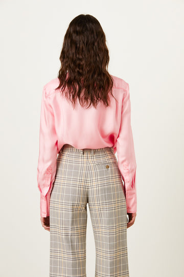 REVERSE TUXE PINK - Marianne - Luxury Women's Silk Tailored Shirts and Scarves