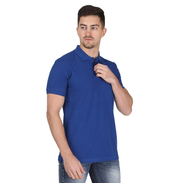 Royal Blue POLO T-shirt Somefits