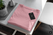 Light Pink Round Neck Short-Sleeved T-shirt