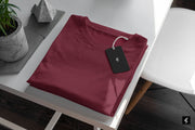 The Maroon Round Neck T-shirt | Somefits