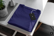 Midnight Blue Round Neck Short-Sleeved T-shirt